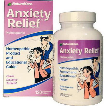 Natural Care, Anxiety Relief, 120 Sublingual Tablets