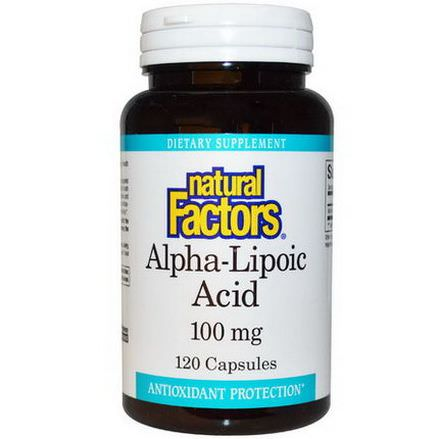 Natural Factors, Alpha-Lipoic Acid, 100mg, 120 Capsules