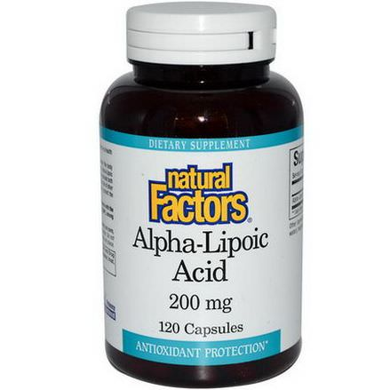 Natural Factors, Alpha-Lipoic Acid, 200mg, 120 Capsules