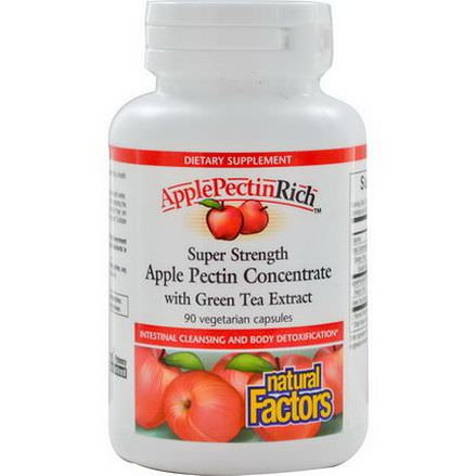 Natural Factors, ApplePectinRich, Super Strength Apple Pectin Concentrate, 90 Veggie Caps
