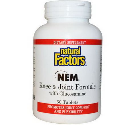 Natural Factors, NEM Knee&Joint Formula with Glucosamine, 60 Tablets