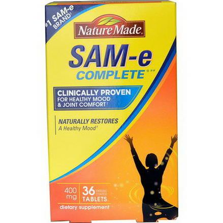 Nature Made, Sam- E Complete, 400mg, 36 Tablets