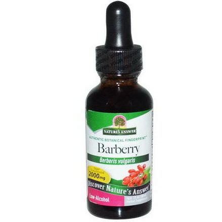 Nature's Answer, Barberry, Low-Alcohol 30ml