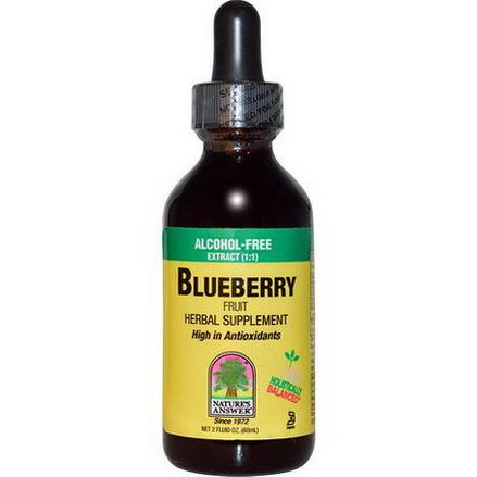 Nature's Answer, Blueberry Fruit, Alcohol-Free Extract 60ml
