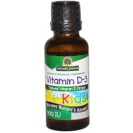Nature's Answer, Kids Vitamin D-3, 400 IU 30ml