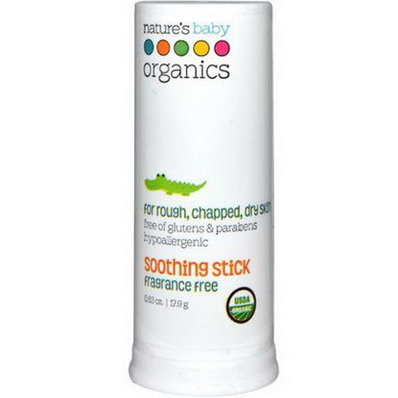 Nature's Baby Organics, Soothing Stick, Fragrance Free 17.9g