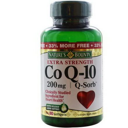 Nature's Bounty, Co Q-10, Extra Strength, Q-Sorb, 200mg, 80 Softgels