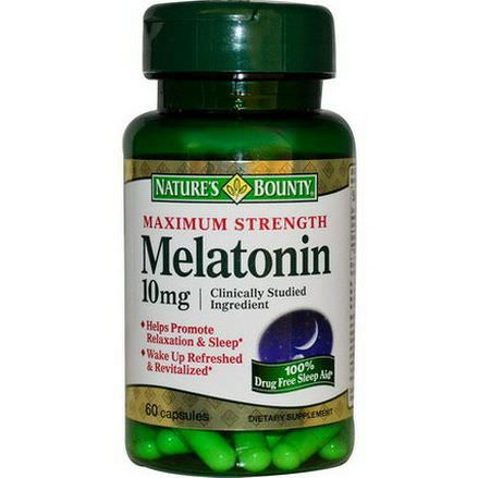 Nature's Bounty, Melatonin, Maximum Strength, 10mg, 60 Capsules