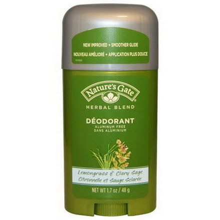 Nature's Gate, Deodorant, Herbal Blend, Lemongrass&Clary Sage 48g