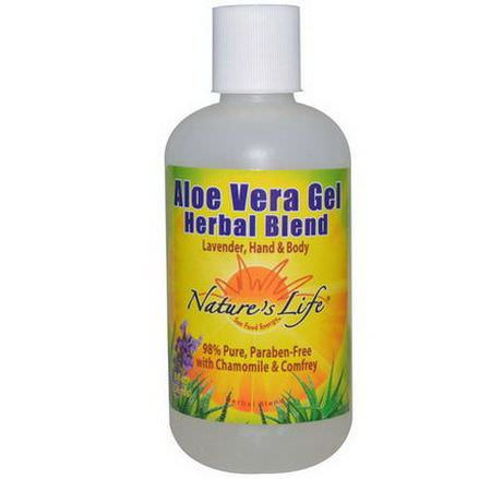 Nature's Life, Aloe Vera Gel Herbal Blend, Lavender Hand&Body 236ml