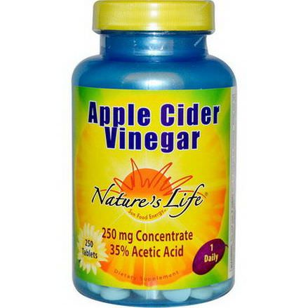Nature's Life, Apple Cider Vinegar, 250mg, 250 Tablets