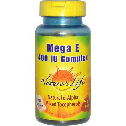 Nature's Life, Mega E Complex, 400 IU, 100 Softgels
