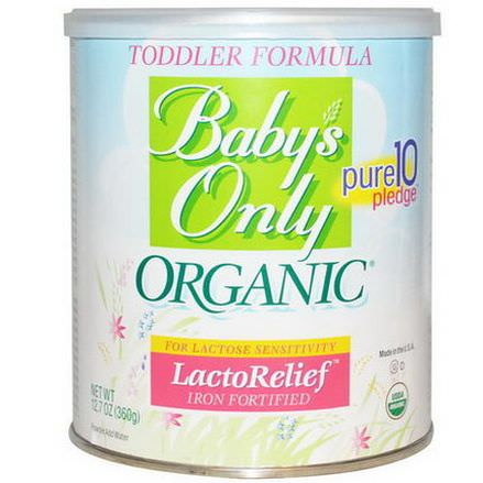 Baby's Only Organic, Toddler Formula, LactoRelief, Iron Fortified 360g