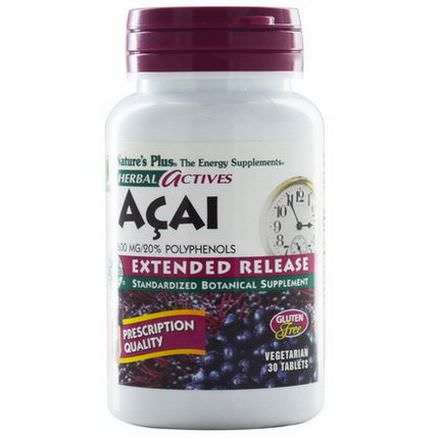 Nature's Plus, Herbal Actives, Acai, 600mg, 30 Tablets
