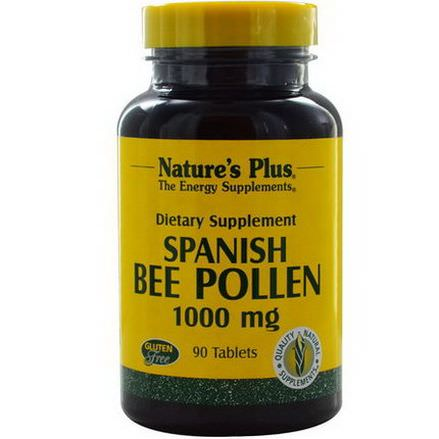 Nature's Plus, Spanish Bee Pollen, 1000mg, 90 Tablets