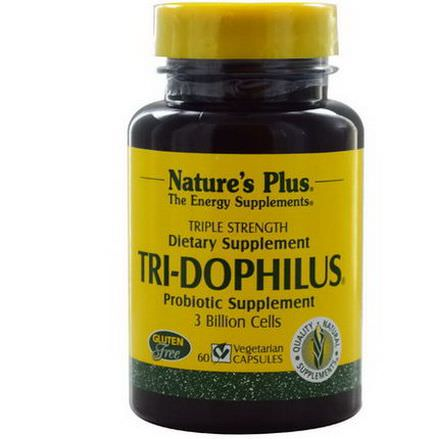 Nature's Plus, Tri-Dophilus, Probiotic Supplement, 60 Veggie Caps