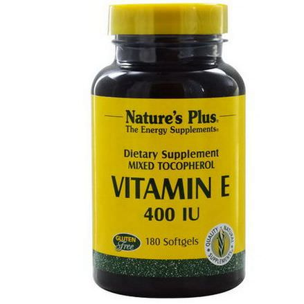 Nature's Plus, Vitamin E, 400 IU, 180 Softgels