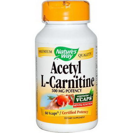Nature's Way, Acetyl L-Carnitine, 500mg, 60 Vcaps