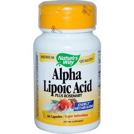Nature's Way, Alpha Lipoic Acid, Plus Rosemary, 60 Capsules