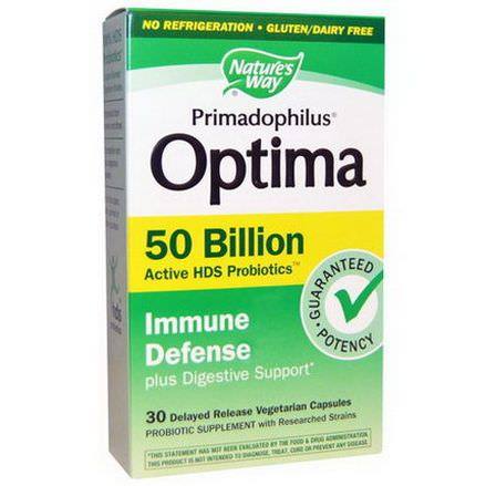 Nature's Way, Primadophilus, Optima, Immune Defense, 30 Veggie Caps