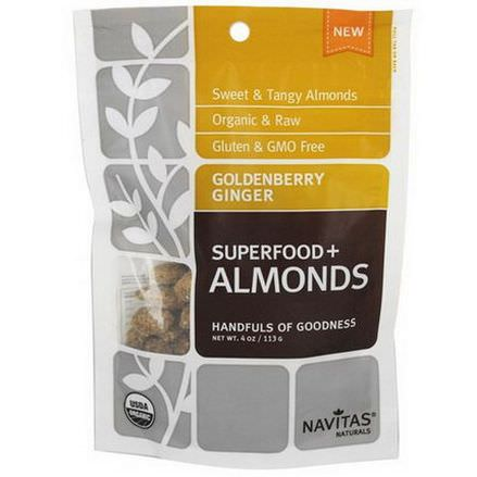 Navitas Naturals, Superfoods Almonds, Goldenberry Ginger 113g