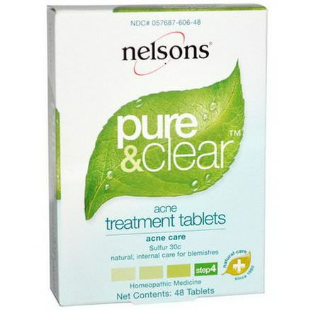 Nelson Bach USA, Pure&Clear, Acne Treatment, Step 4, 48 Tablets