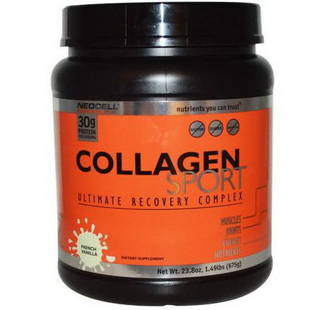 Neocell, Collagen Sport, Ultimate Recovery Complex, French Vanilla 675g