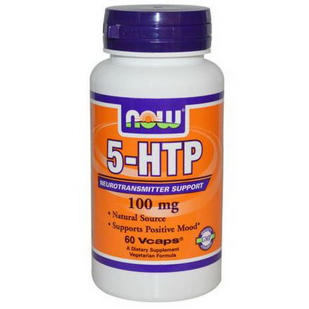 Now Foods, 5-HTP, 100mg, 60 Vcaps
