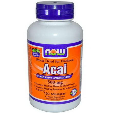 Now Foods, Acai, 500mg, 100 Vcaps