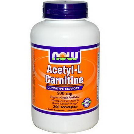 Now Foods, Acetyl-L Carnitine, 500mg, 200 Vcaps
