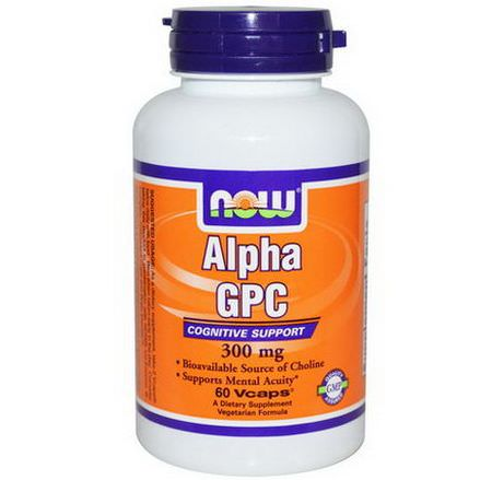 Now Foods, Alpha GPC, 300mg, 60 Vcaps