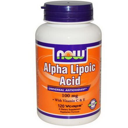 Now Foods, Alpha Lipoic Acid, 100mg, 120 Vcaps