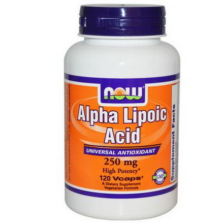 Now Foods, Alpha Lipoic Acid, 250mg, 120 Vcaps