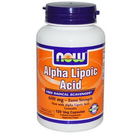 Now Foods, Alpha Lipoic Acid, 600mg, 120 Veggie Caps