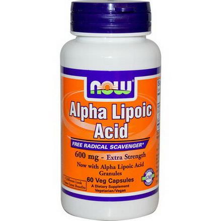 Now Foods, Alpha Lipoic Acid, 600mg, 60 Veggie Caps