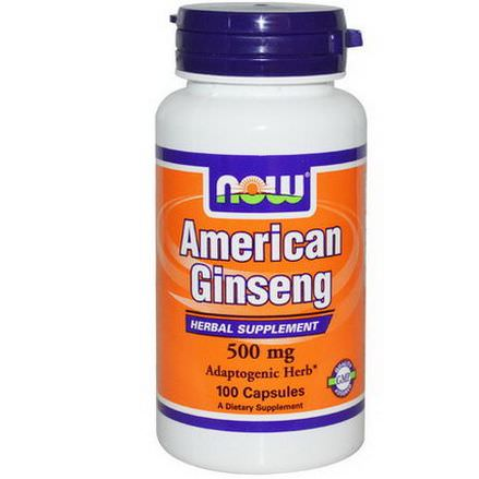 Now Foods, American Ginseng, 500mg, 100 Capsules