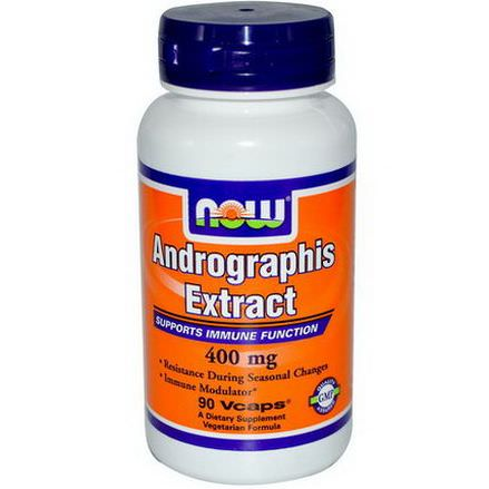 Now Foods, Andrographis Extract, 400mg, 90 Veg Caps