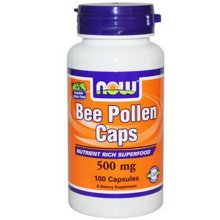 Now Foods, Bee Pollen Caps, 500mg, 100 Capsules