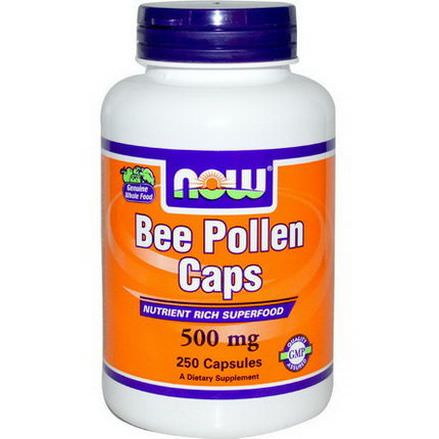 Now Foods, Bee Pollen Caps, 500mg, 250 Capsules