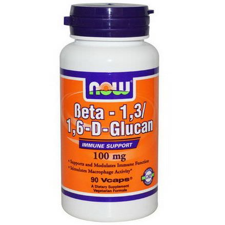 Now Foods, Beta-1,3/1,6-D-Glucan, 100mg, 90 Vcaps