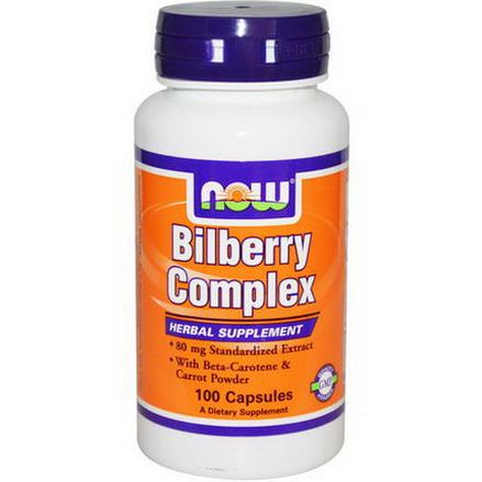 Now Foods, Bilberry Complex, 100 Capsules