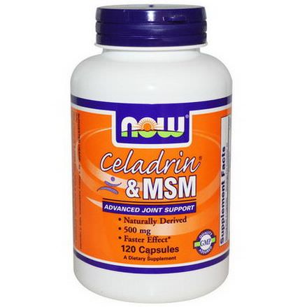 Now Foods, Celadrin&MSM, 500mg, 120 Capsules