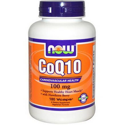 Now Foods, CoQ10, 100mg, 180 Vcaps
