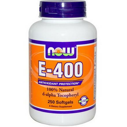 Now Foods, E-400, 250 Softgels