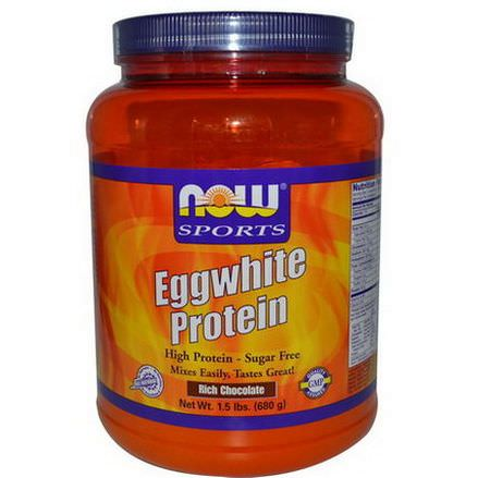 Now Foods, Eggwhite Protein, Rich Chocolate 680g