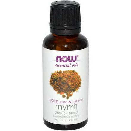 Now Foods, Essential Oils, Myrrh, 20% Oil Blend 30ml