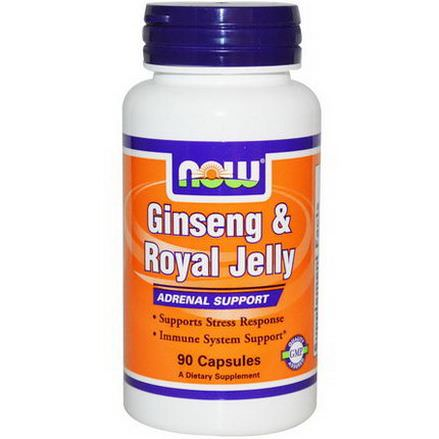 Now Foods, Ginseng&Royal Jelly, 90 Capsules