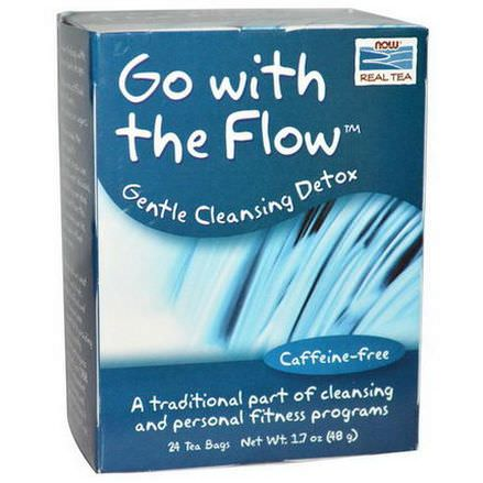 Now Foods, Go With the Flow, Gentle Cleansing Detox, Caffeine-Free 48g