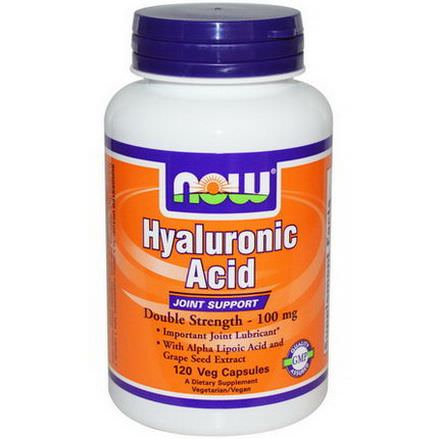 Now Foods, Hyaluronic Acid, Double Strength, 100mg, 120 Veggie Caps