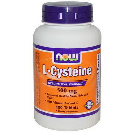 Now Foods, L-Cysteine, 500mg, 100 Tablets